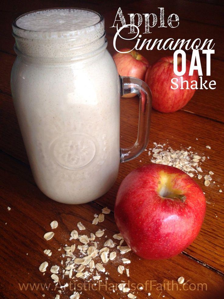 This is so delicious! Apple Cinnamon Oat Shake Recipe {THM-E}