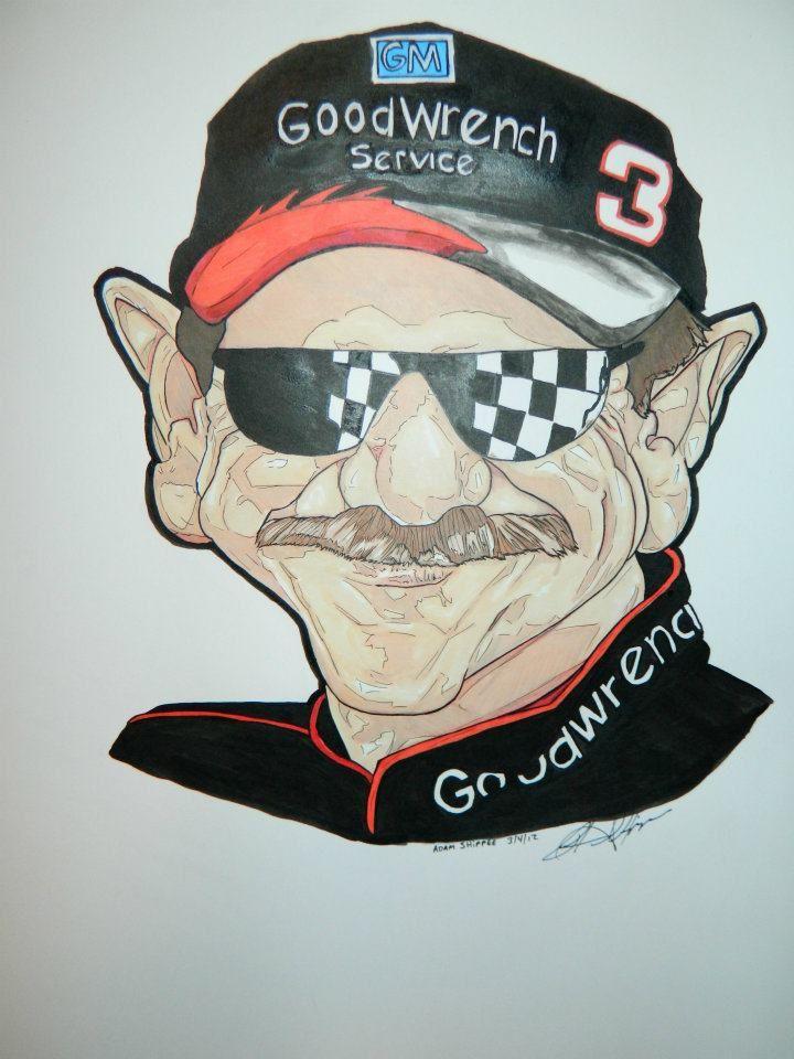 Dale Earnhardt Sr | Funny cartoon pictures, Caricature ...