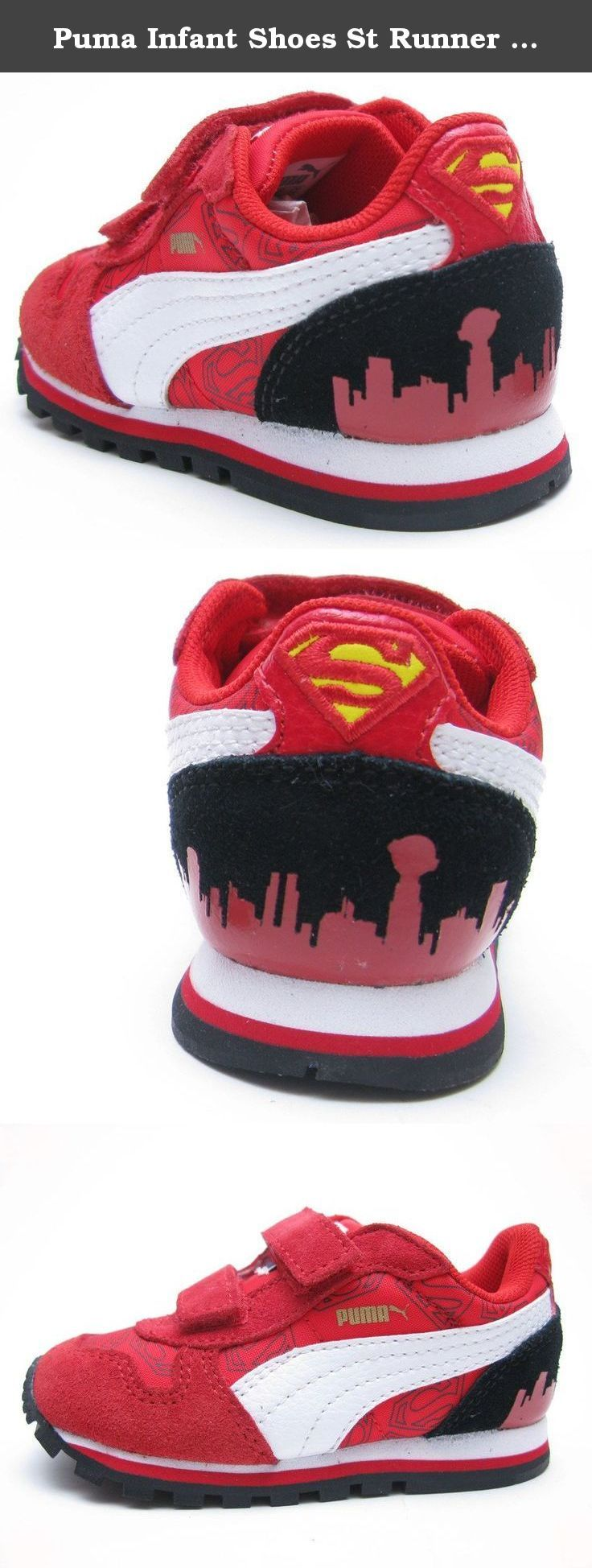 Puma Infant Shoes St Runner Superman Hero Red Fashion (4). ST Runner Superman Toddler Kids in High Risk Red/Rio Red by Puma.