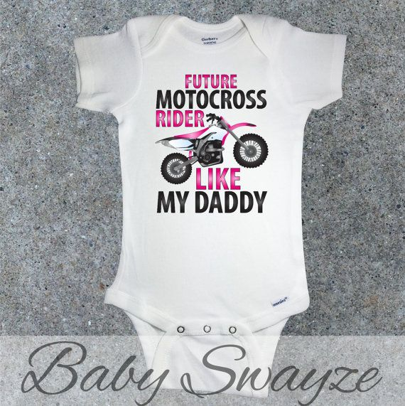 Future Motocross Rider Like Daddy Pink Dirt Bike by BabySwayze