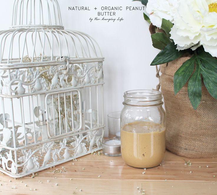 Natural Peanut Butter #vegan #healthyeating #peanutbutter #recipe