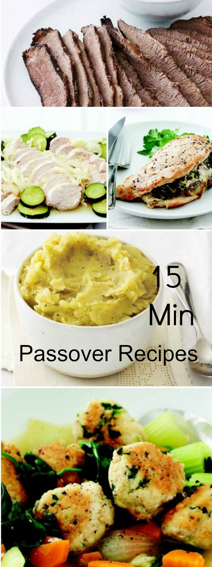 Mix N Match Passover Meal Ideas - Make Your Own Menu with 15 Minute Prep Recipes