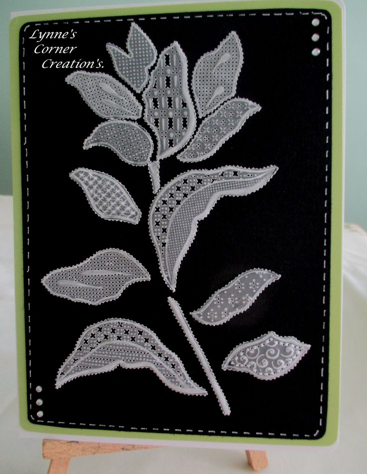 Parchment card using Filigraphy Flower Stencil available from Claritystamps.