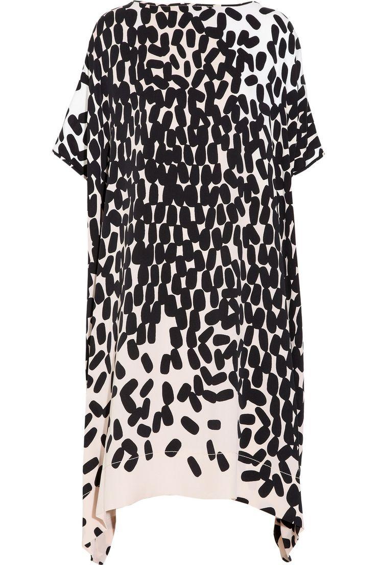 Diane von Furstenberg's silk-blend crepe kaftan-style dress - or I would wear it as a tunic .......