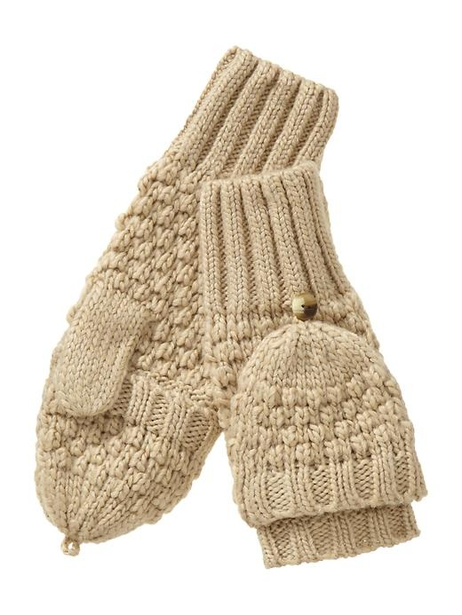 Moss Stitch Convertible Mittens - I wonder if I could find a pattern...