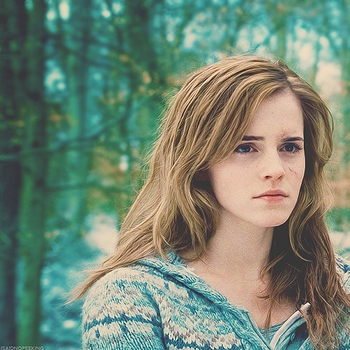 Hairstyles When Hermione was on the run during the Deathly Hallows with Ron Weasley and Harry Potter she didn't have time to do anything with her hair. DIY Just let your hair do its natural thing.