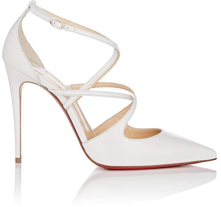 4b9a781eab04 Christian Louboutin Women s Crossfliketa Leather Pumps  pumps  leatherpumps   louboutin  heels  partyheels