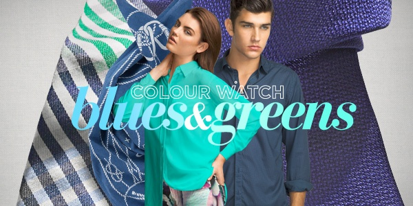 Autumn Winter 2013's hottest colour trend - blues and greens #DavidJones #fashion #colour #newarrivals
