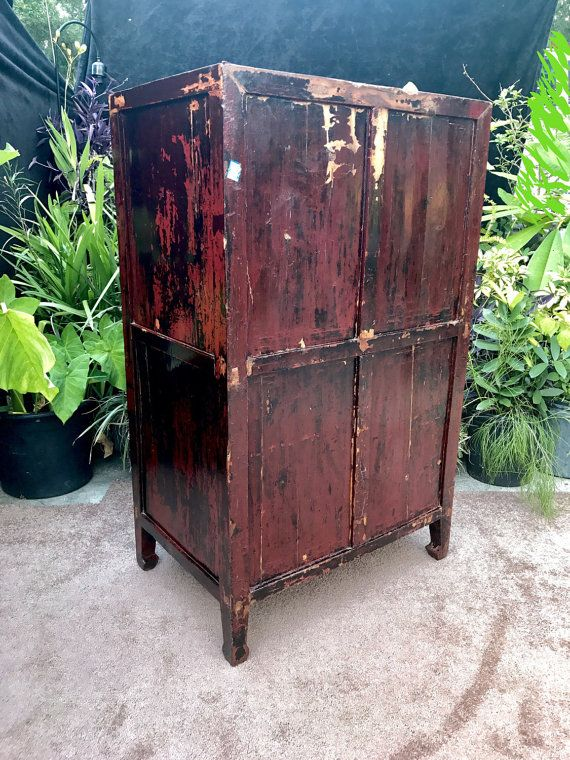 Antique Chinese Apothecary Cabinet FREE SHIPPING by VINTAGEnfinity