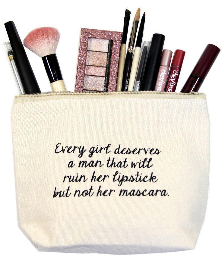 2lisasboutique - Every Girl Deserves A Man That Will Ruin Her Lipstick But Not Her Mascara Exclusive Canvas Zipper Bag, $18.00 (http://www.2lisasboutique.com/every-girl-deserves-a-man-that-will-ruin-her-lipstick-but-not-her-mascara-exclusive-canvas-zipper-bag/)