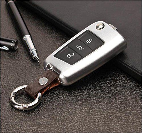[M. jvisun] Housse Etui Coque clé télécommande voiture l'entrée sans clé fob Peau pour VW Volkswagen Golf 7lamando Tiguan 2016TOURAN L en…
