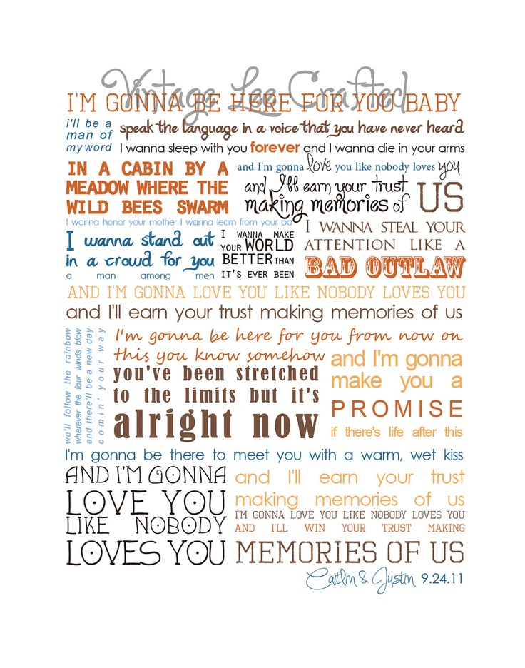 8 best making memories of us eao images on pinterest keith urban First Dance Wedding Songs Keith Urban 11x14 personalized making memories of us keith urban lyrics print $16 00, via etsy · wedding first danceour first dance wedding songs keith urban