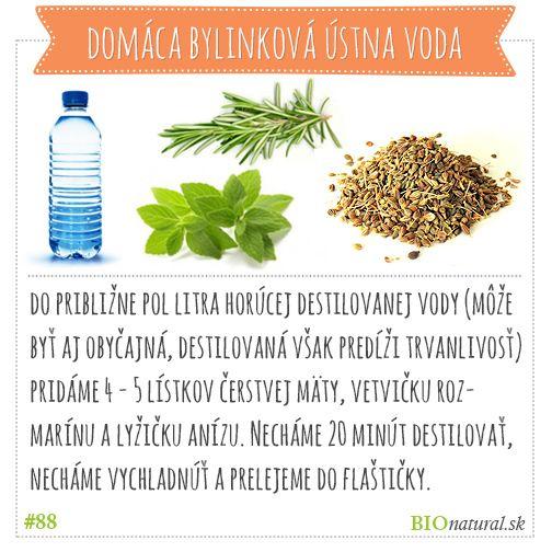 Vyrob si domácu bylinkovú vodu #diy