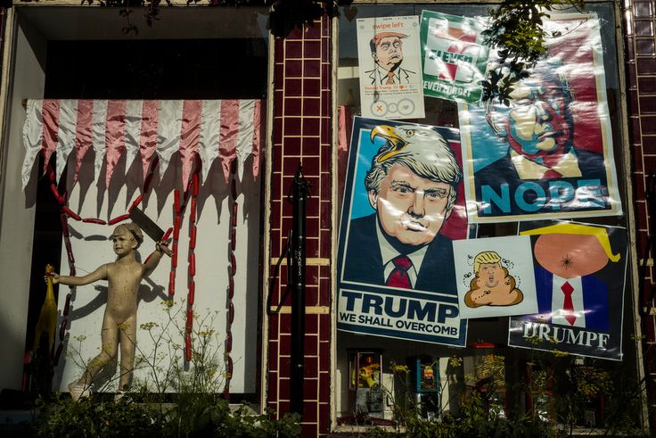 Alex Webb - USA. Philadelphia. 2016. Political posters.