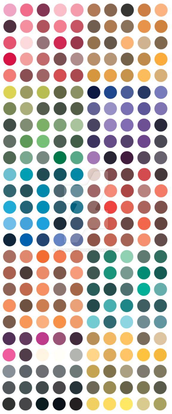 Folk art color chart acrylic paint - Traditional Japanese Color Palette