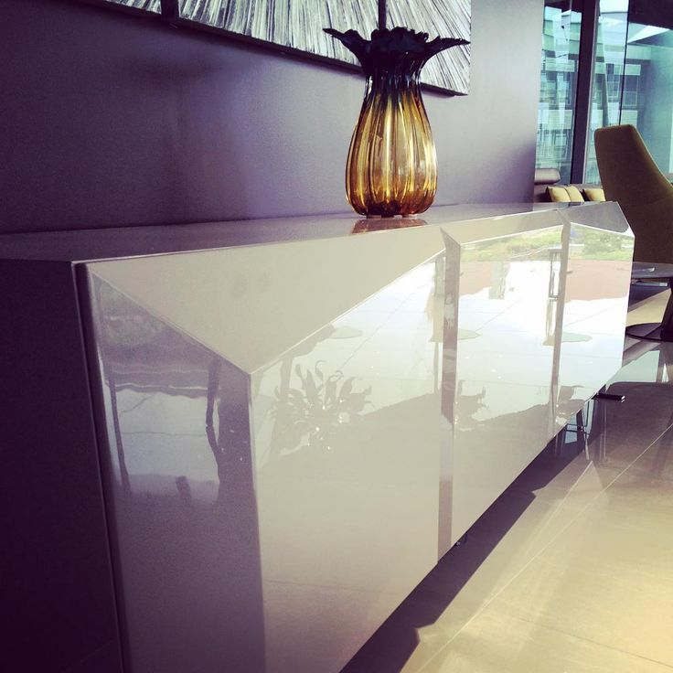 Prizma Buffet.  We love how architectural this piece is.  Lacquered to perfection with high gloss polyester.  #madeinitaly www.sovereigninteriors.com.au