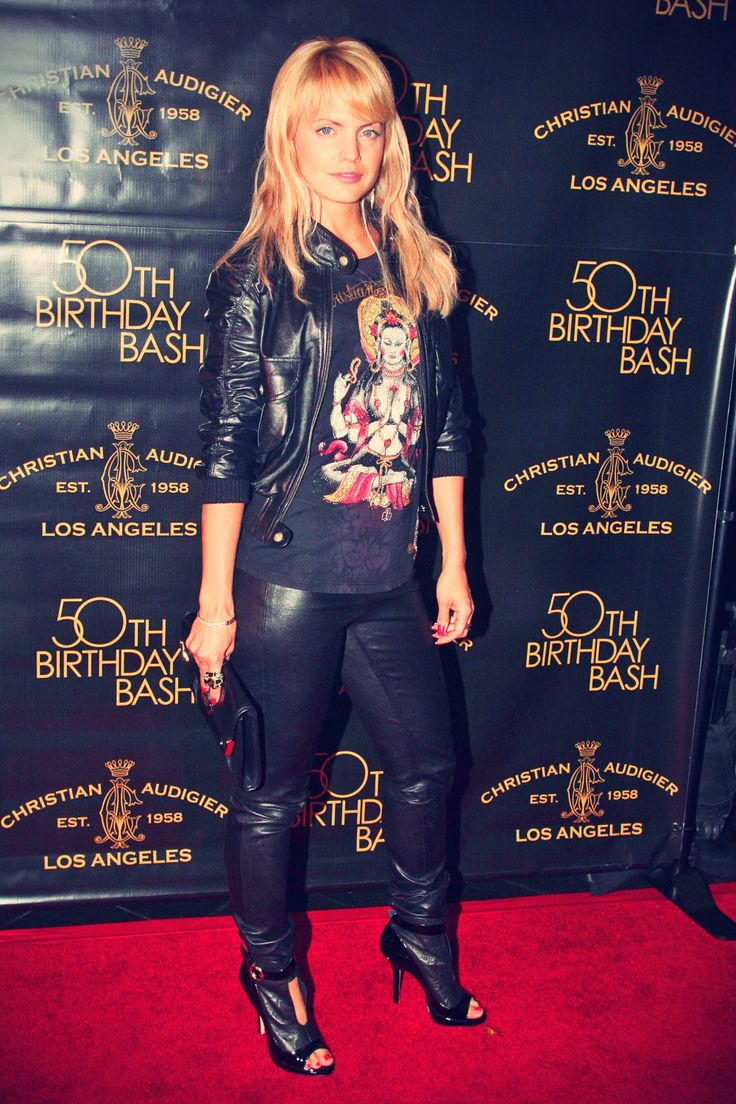 Mena Suvari attends Designer Christian Audigier's 50th Birthday Bash