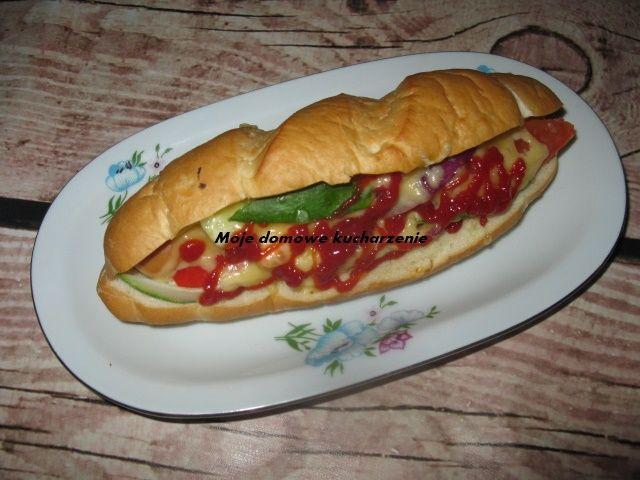 Moje domowe  kucharzenie: Zapiekane hot dogi