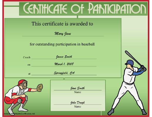 Best 25+ Certificate of participation template ideas on Pinterest - sports certificate in pdf