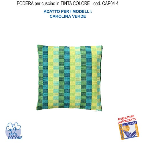 Federa in Tinta per Cuscino colore  Carolina verde CAP04-4  € 13,50