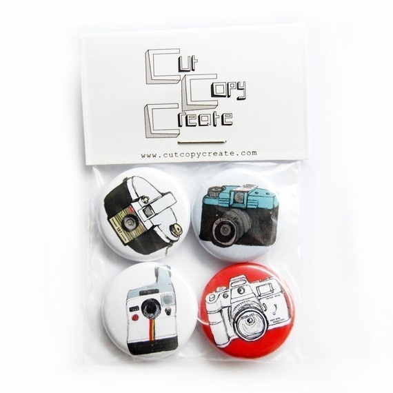 CAMERA Buttons Badges