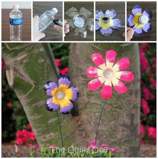 Upcycled Plastic Bottle Flowers