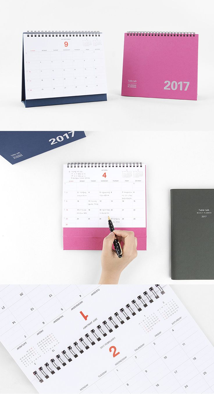 You can manage your time and schedules more conveniently by placing this simple and clean calendar planner on your desk!