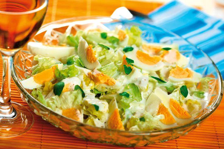 Salată verde cu sos şi ouă   Retete culinare - Romanesti si din Bucataria internationala