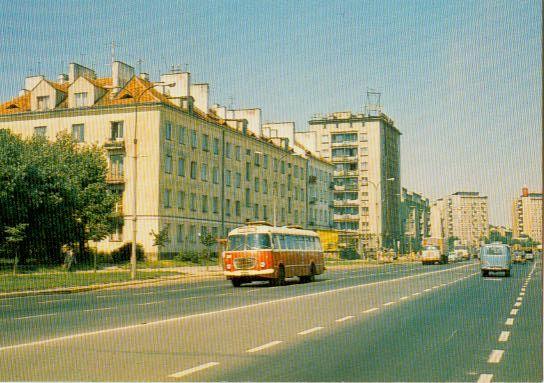 Białystok lata PRLuuuu - Page 3 - SkyscraperCity. Widok na Aleję 1 Maja na wysokości ulicy Kościelnej.