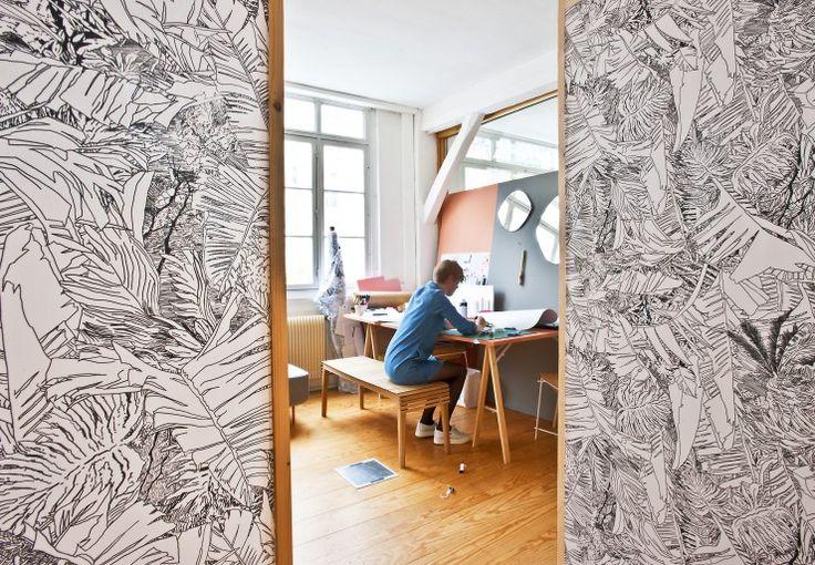 17 meilleures id es propos de papier peint jungle sur pinterest papier peint exotique. Black Bedroom Furniture Sets. Home Design Ideas