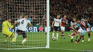 ROSEBEAUTYWORLD GOSSIP NEWS: West Ham 1- 0 Tottenham  Tottenham's pursuit of Pr...