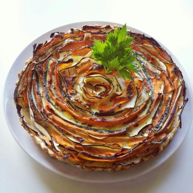 Wortel-courgette taart gemaakt!l♡ Yummie #healthyfood