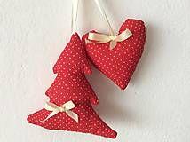 Dekorácie - Vianočné ozdoby - sivo - biele, prípadne červené Vianoce - 7167944_