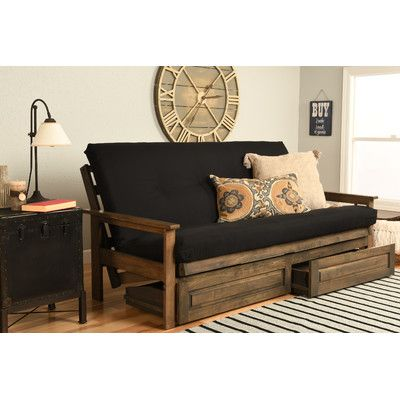 "Kodiak Furniture 6"" Coil Hinged Full Futon Mattress"