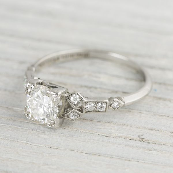 1 Carat Vintage Art Deco Engagement Ring | Circa 1930 | Erstwhile Jewelry Co.