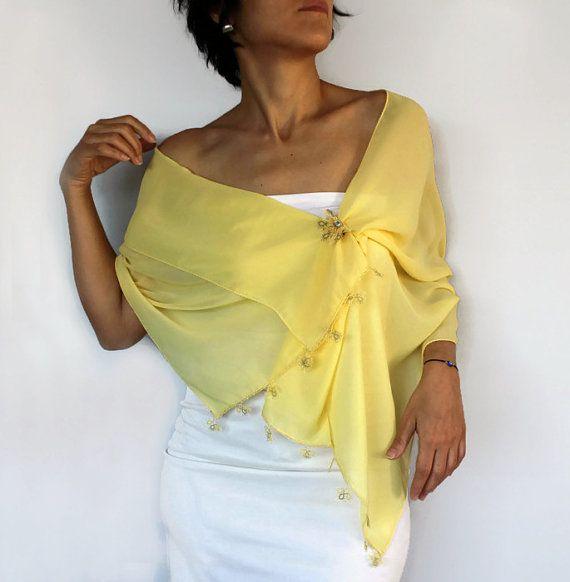 Encaje encaje recortado largo mantón de la bufanda por mammamiaeme