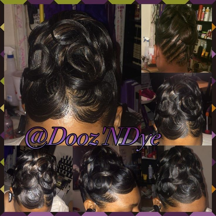 Black hairstyles  hairstyles for black women  UpDo  protective style  relaxed hair  black