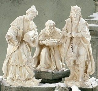 "3pc St 17-26.5""3-Kings Garden by Roman. $458.00. This item may NOT arrive by Christmas if purchased after 12/19 regardless of shipping method chosen. Items not shipped in time for Christmas will not ship until Wednesday, January 2.. 17-26.5""H. Resin. 3pc St 17-26.5""3-Kings Garden"