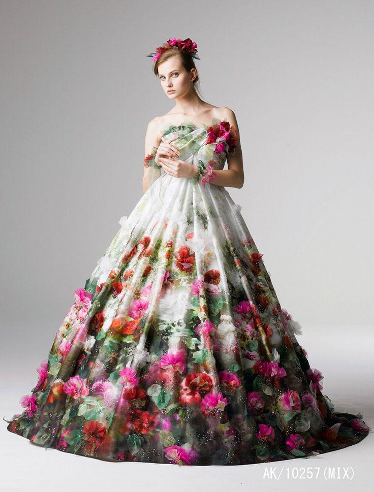 Yumi Katsura   YUMI KATSURA [桂由美]   ウェディングドレス・カラード ...
