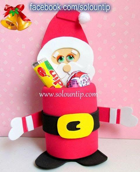 8 manualidades navide as con material reciclado feliz for Manualidades navidenas preescolar