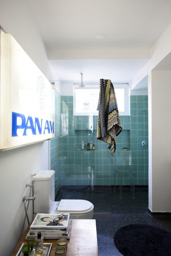 Azulejos Baño Verde Agua:Apartamento Mauricio Arruda baldosas verdes baños