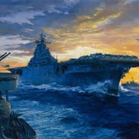 US Navy Aircraft Carriers Paintings