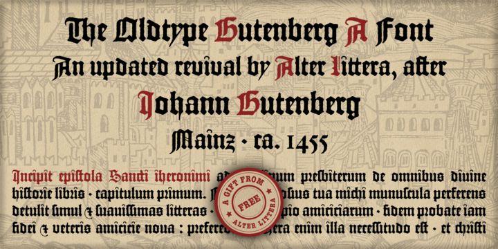 Gutenberg A ($0) - http://fontsdiscounts.com/gutenberg-a-0/