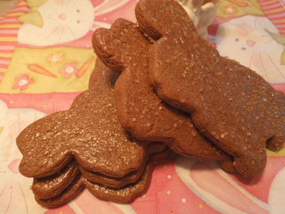 Gingerbread Bunny Cookies Easter Cookies by LittleNevasBakery