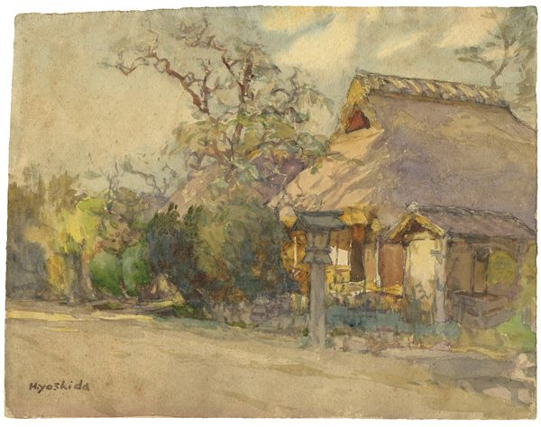 Painting : Landscape by Yoshida Hiroshi / 自筆画 風景 吉田博