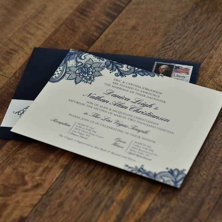 how long should wedding invitations be sent out%0A danica lace invite    Lace Wedding InvitationsWedding