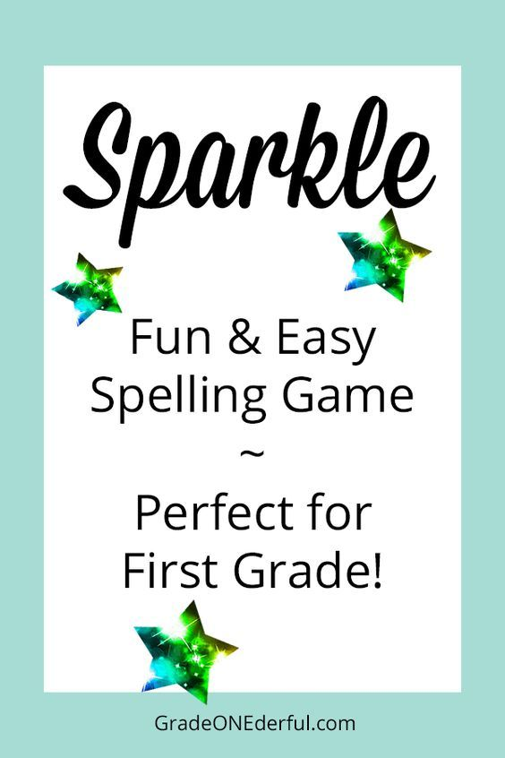 A super fun spelling game for first graders! SPARKLE! GradeONEderful.com