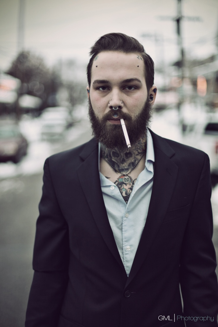 Marvelous 1000 Ideas About Suits And Tattoos On Pinterest Beard Suit The Short Hairstyles Gunalazisus