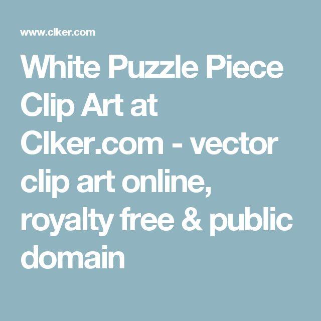 White Puzzle Piece Clip Art at Clker.com - vector clip art online, royalty free & public domain