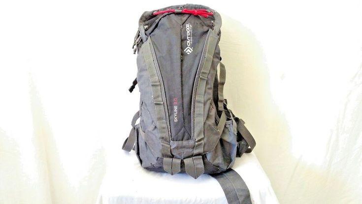 Outdoor Skyline 8.0  Hiking Camping  Backpack Daypack Rucksack Bag BLACK/GREY  #Outdoor #Backpack